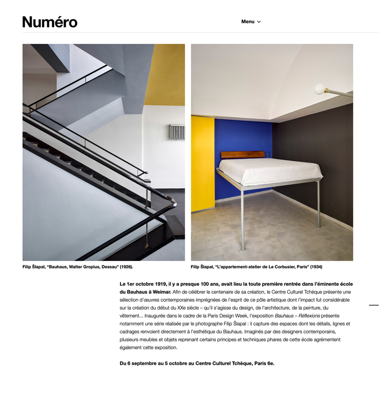 Bauhaus Reflections in NUMERO